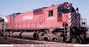 Bowser Montreal Locomotive Works M630 - Standard DC - Executive Line Canadian Pacific 4510 (Action Red, 5 Stripe, Lg Multimark, Exp. Tank, Ditc