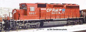 Bowser HO SD40 w/DCC & Sound, CPR/Dual Flag #5501