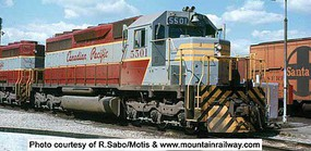 Bowser HO SD40 w/DCC & Sound, CPR/Grey/Maroon #5504