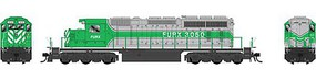 Bowser HO SD40-2 w/DCC & Sound, FURX/Green/Silver#3050