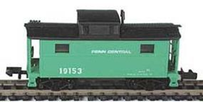 Bowser PRR Class N5 Steel Cabin Car (Caboose) Penn Central N Scale Model Train Freight Car #37105