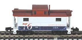Bowser N5 Steel Cabin Car (Caboose) 76 Happy Birthday USA N Scale Model Train Freight Car #37228