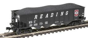 Bowser H21a 4-Bay Hopper Ready to Run - Reading #60166 N Scale Model Train Freight Car #37658