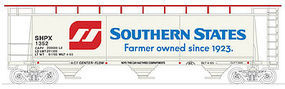 Bowser Cylindrical Covered Hopper Southern States #1355 N Scale Model Train Freight Car #37700