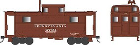 Bowser PRR Class N5 Steel Cabin Car (Caboose) - Ready to Run Pennsylvania Railroad #477367 (Early Scheme, Tuscan) - N-Scale