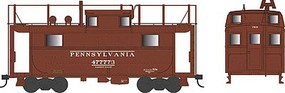 Bowser PRR Class N5 Steel Cabin Car (Caboose) - Ready to Run Pennsylvania Railroad #477764 (Early Scheme, Tuscan, Trainphone Antenna) - N-Scale