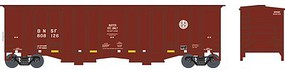 Bowser 2-Bay Airslide Covered Hopper - Ready to Run Burlington Northern Santa Fe #808126 (Buffer Car, Boxcar Red, Circle/Cross L - N-Scale