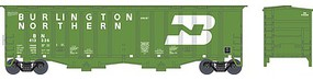 Bowser 2-Bay Airslide Covered Hopper - Ready to Run Burlington Northern #413336 (Cascade Green, white, 1970s Large Logo) - N-Scale
