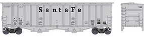 Bowser 2-Bay Airslide Covered Hopper - Ready to Run Santa Fe #310688 (gray, Cooper Lettering) - N-Scale