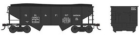 Bowser PRR Class GLa 2-Bay Open Hopper - Ready to Run Buffalo, Rochester & Pittsburgh 40537 (Late Scheme, black) - N-Scale