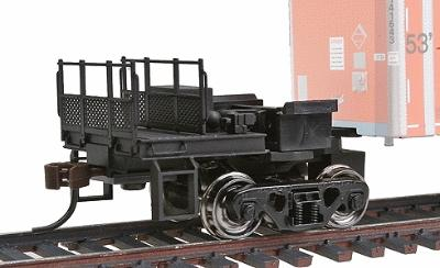 Bowser Manufacturing Co. CouplerMate(TM) (Use w/Roadrailers, 1 Per Train) -- Assembled w/Metal Wheel, Knuckle Coupler, Safety Railings and Steps - HO-Scale