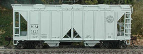 Bowser 70-Ton 2-Bay Covered Hopper Western Maryland #5125 HO Scale Model Train Freight Car #40309