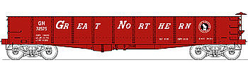Bowser Manufacturing Co. GS Gondola Great Northern #72575 (red, white) -- HO Scale Model Train Freight Car -- #40318
