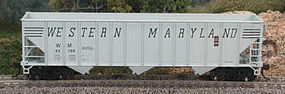Bowser 100-Ton 3-Bay Open Hopper Western Maryland #63789 HO Scale Model Train Freight Car #40353