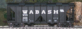 70-Ton 2-Bay Covered Hopper Wabash #2 HO Scale Model Train Freight Car #40404