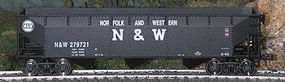 Bowser 70-Ton Offset Hopper Norfolk & Western #1 HO Scale Model Train Freight Car #40415