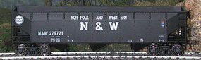 Bowser 70-Ton Offset Hopper Norfolk & Western #2 HO Scale Model Train Freight Car #40416