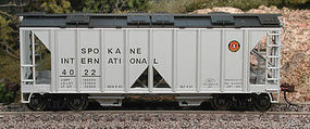 Bowser 70-Ton 2-Bay Open-Side Covered Hopper Spokane Int HO Scale Model Train Freight Car #40469