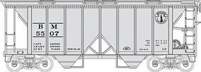 Bowser 70-Ton 2-Bay Covered Hopper Boston & Maine HO Scale Model Train Freight Car #40929