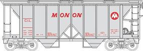 Bowser 70-Ton 2-Bay Covered Hopper w/Open Sides Monon CIL HO Scale Model Train Freight Car #40940