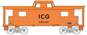 Bowser N8 Caboose Illinois Central Gulf #199104 HO Scale Model Train Freight Car #41118