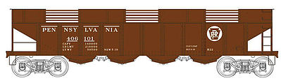 Bowser H22 Hopper Pennsylvania RR #406102 HO Scale Model Train Freight Car #41218
