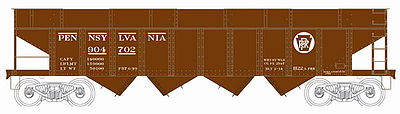 Bowser Manufacturing Co. H22 Hopper Pennsylvania RR #904704 -- HO Scale Model Train Freight Car -- #41226