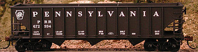 Bowser Manufacturing Co. 70 Ton Hopper Pennsylvania RR #669943 -- HO Scale Model Train Freight Car -- #41238