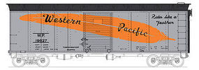 Bowser 40 Single Door Boxcar Western Pacific #19528 HO Scale Model Train Freight Car #41291
