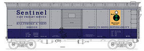 Bowser 40 Single Door Boxcar Baltimore & Ohio #466016 HO Scale Model Train Freight Car #41294