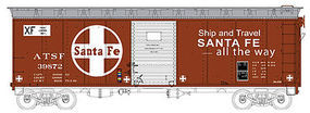 Bowser 40 Single Door Boxcar ATSF #39872 HO Scale Model Train Freight Car #41301