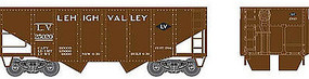 Bowser 55 ton Fishbelly Hopper Lehigh Valley #25034 HO Scale Model Train Freight Car #41379
