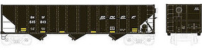 Bowser 100-Ton 3-Bay Open Hopper BNSF Railway #616132 HO Scale Model Train Freight Car #41501