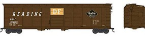 Bowser 50 Single-Door Boxcar - Ready to Run Reading #19206 (Boxcar Red, black, orange, DF Markings, Black Diamond Logo)