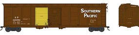 Bowser 50 Double-Door Boxcar - Ready to Run Southern Pacific #220415 (Boxcar Red, yellow Door)