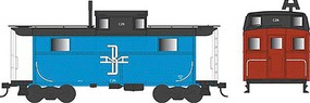 Bowser PRR Class N5 Steel Cabin Car (Caboose) - Ready to Run Boston & Maine #C29 (blue, black, red)