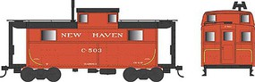 Bowser PRR Class N5 Steel Cabin Car (Caboose) - Ready to Run New Haven #C-503 (red, black)