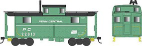 Bowser PRR Class N5 Steel Cabin Car (Caboose) - Ready to Run Penn Central #22813 (Jade Green, black, white Stripe, Small Logo)