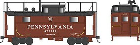 Bowser PRR Class N5 Steel Cabin Car (Caboose) - Ready to Run Pennsylvania Railroad #477776 (Tuscan, Shadow Keystone, Trainphone Antenna)