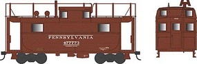 Bowser PRR Class N5 Steel Cabin Car (Caboose) - Ready to Run Pennsylvania Railroad #477811 (Early Scheme, Tuscan, Trainphone Antenna)