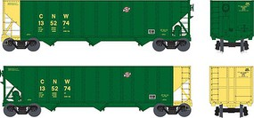Bowser 100-Ton 3-Bay Hopper - Ready to Run - Executive Line Chicago & North Western #135296 (green, yellow)