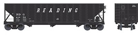 Bowser 100-Ton 3-Bay Hopper - Ready to Run - Executive Line Reading #41705 (black, Speed Lettering)