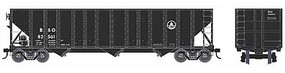 Bowser 100-Ton 3-Bay Open Hopper - Ready to Run - Executive Line Baltimore & Ohio 82591 (black, Small Capitol Logo)