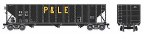 Bowser 100-Ton 3-Bay Open Hopper - Ready to Run - Executive Line Pittsburgh & Lake Erie 80722 (black, yellow, large P&LE)