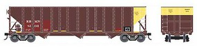 Bowser 100-Ton 3-Bay Open Hopper - Ready to Run - Executive Line Reading, Blue Mountain & Northern 8166 (Ex-PPLX, Boxcar Red, yellow)