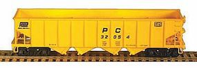 Bowser H-21a 4-Bay Hopper Penn Central No Car Number (black) HO Scale Model Train Freight Car #54065