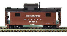Bowser N-5 All-Steel Caboose Kit New Haven HO Scale Model Train Freight Car #55037