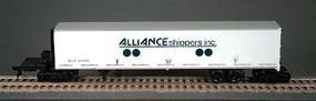 Bowser Smooth-Wall Roadrailer(R) Kit Alliance Shippers Inc. HO Scale Model Train Freight Car #55533
