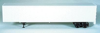 Bowser Manufacturing Co. 53' Plate Wall Highway Trailer Kit Undecorated -- HO Scale Model Train Freight Car -- #55560