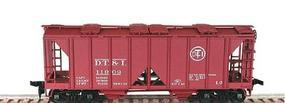 Bowser 70 Ton 2 Bay Open Sided Hopper DT&I - HO Scale Model Train Freight Car #55634